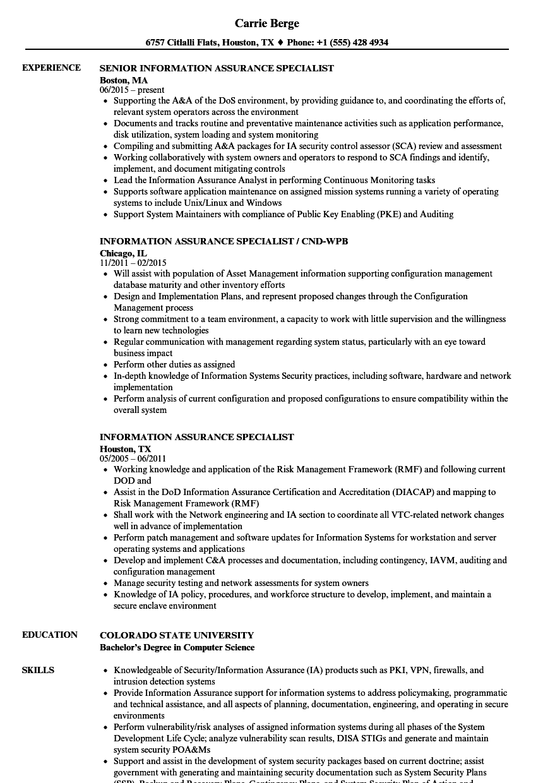 Information Assurance Specialist