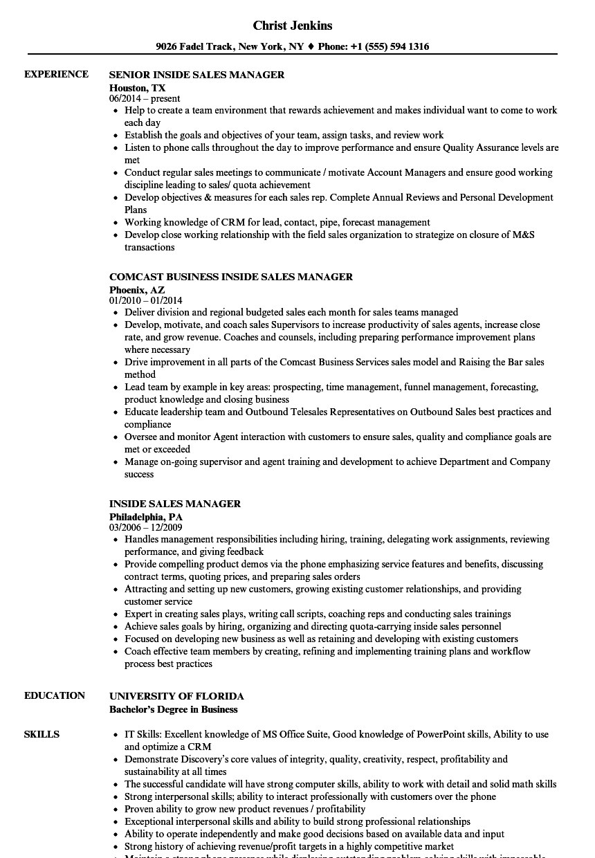 Velvet Jobs  Sales Management Resume