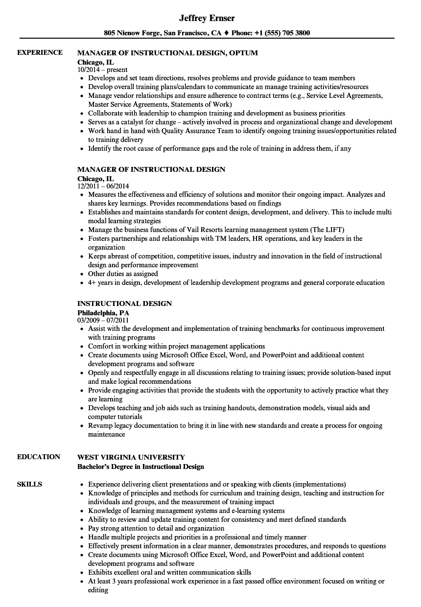 Instructional design resume samples velvet jobs download instructional design resume sample as image file malvernweather Choice Image