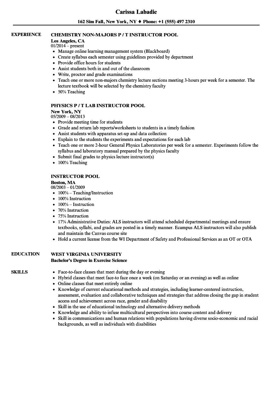 Test Proctor Resume Sample