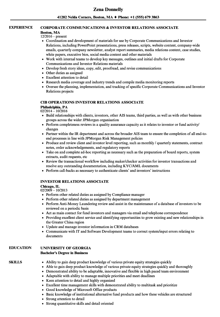 provider relations manager resume