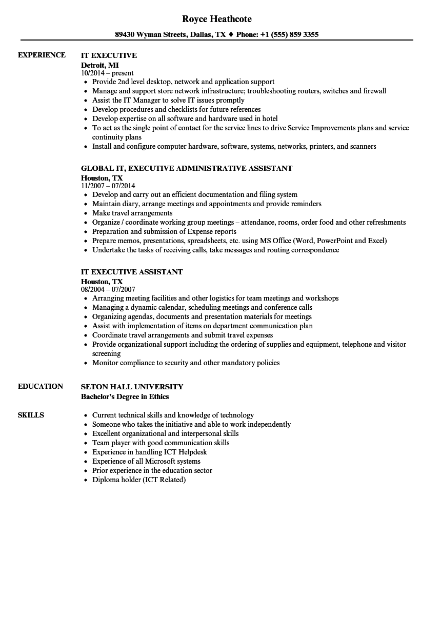 it executive resume samples velvet jobs
