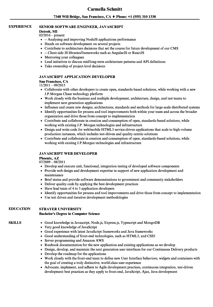 sample resume for java j2ee developer beautiful angularjs 2 sample resume fresh angularjs