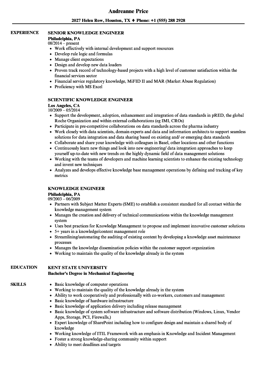 Download Knowledge Engineer Resume Sample As Image File