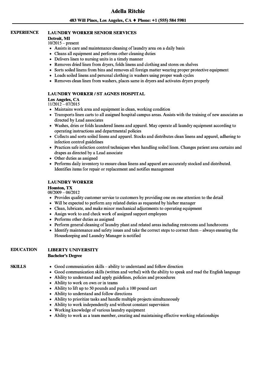 Knowledge worker sample resume
