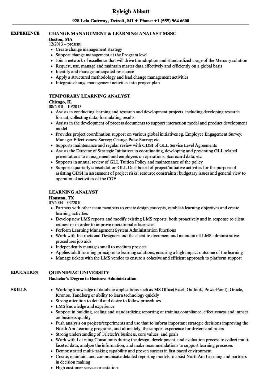 Download Learning Analyst Resume Sample As Image File  Network Analyst Resume