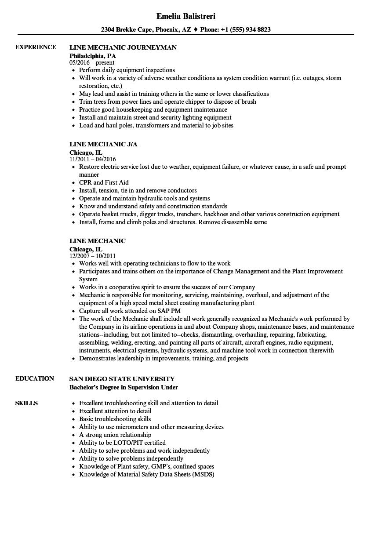 Line mechanic resume samples velvet jobs download line mechanic resume sample as image file 1betcityfo Images