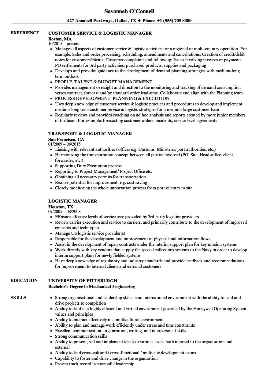 logistics resume - solarfm.tk