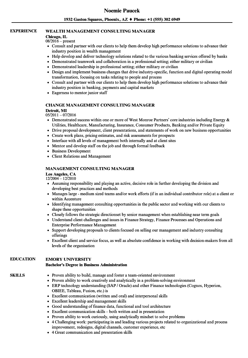 resume consulting management consulting manager resume samples velvet jobs - Business Consultant Resume Sample