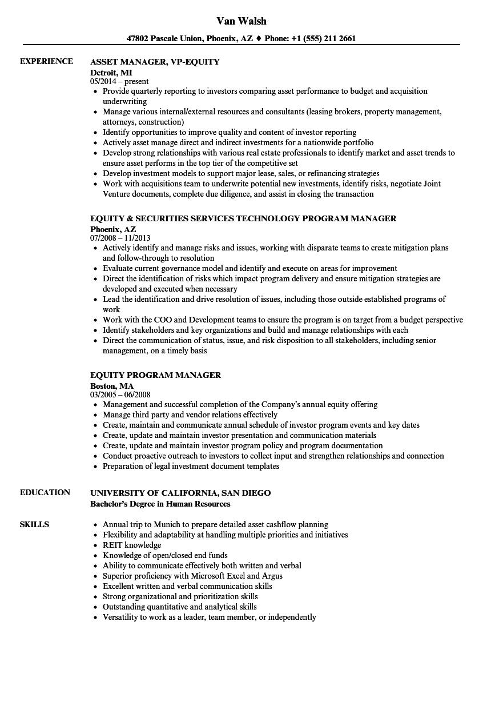 Resume of option trader