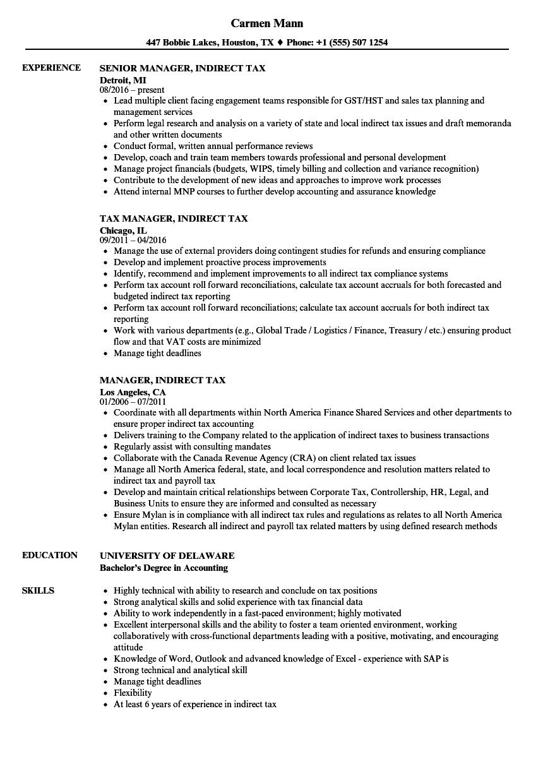 Manager indirect tax resume samples velvet jobs download manager indirect tax resume sample as image file yelopaper Gallery