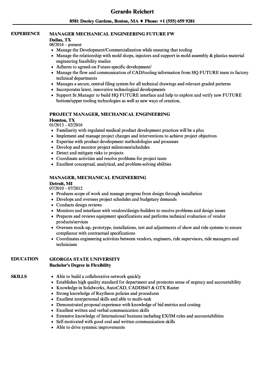 download manager mechanical engineering resume sample as image file - Mechanical Engineering Resume Examples
