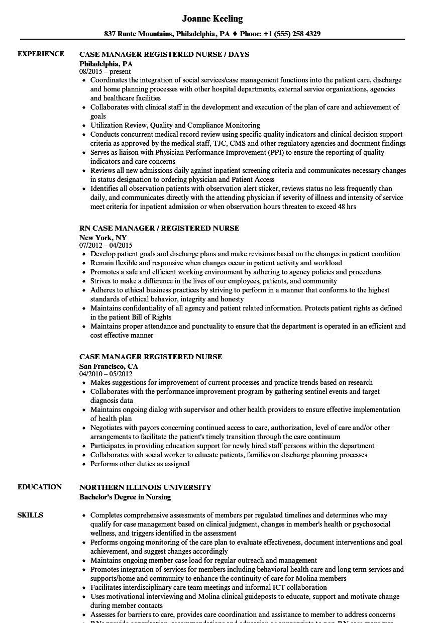Manager Registered Nurse Resume Samples Velvet Jobs