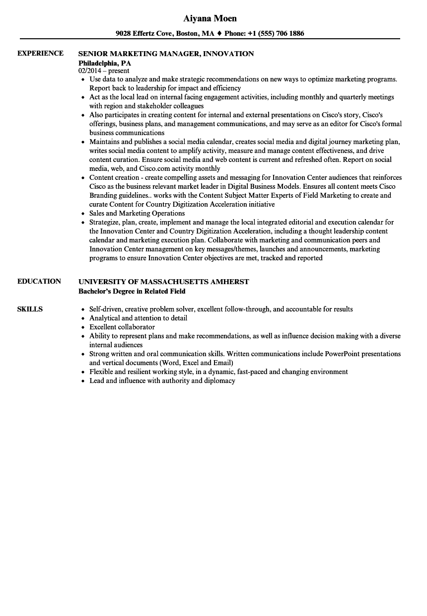 Related Job Titles. Marketing Manager, Digital Resume Sample  Resume For Marketing Job