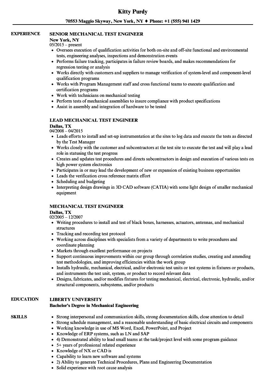 download mechanical test engineer resume sample as image file