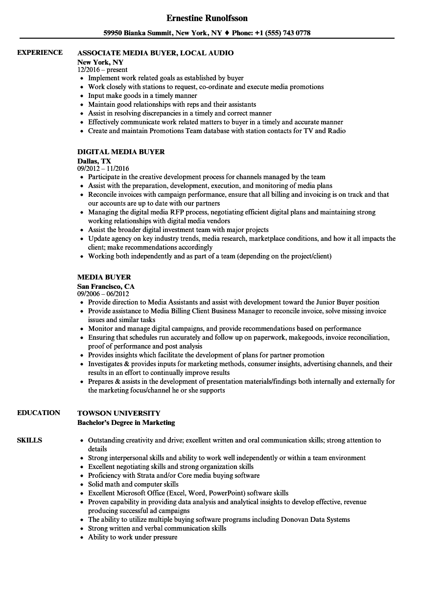 media buyer resume april onthemarch co