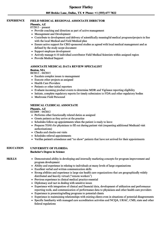 medical associate resume samples