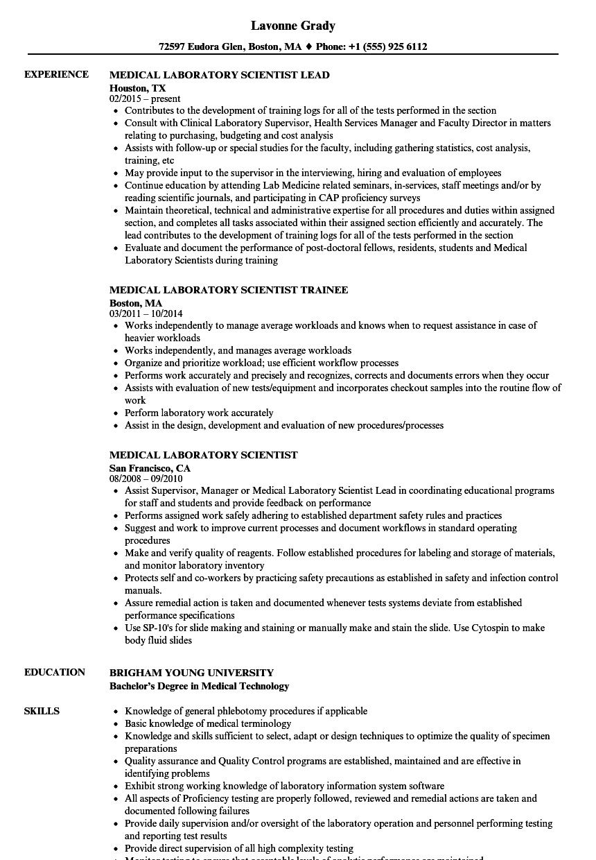 Clinical Lab Manager Resume