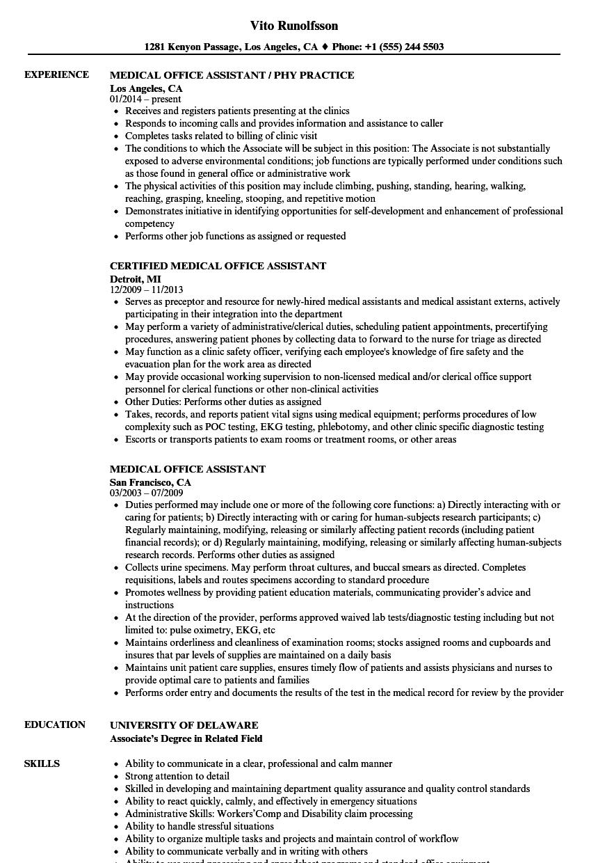 Resume Sample For Office Job