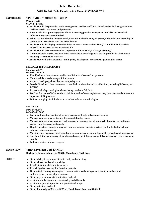 Medical resume samples velvet jobs altavistaventures Gallery