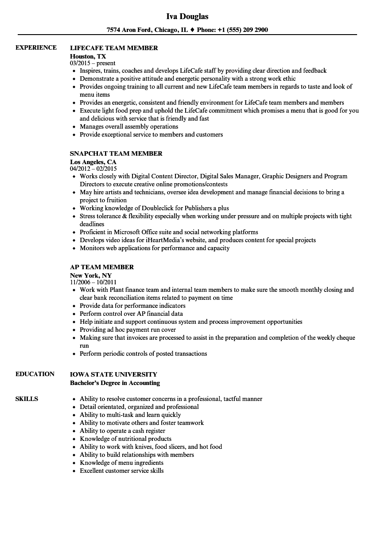 Contemporary Teamwork Ability Resume Gift - Resume Ideas - namanasa.com