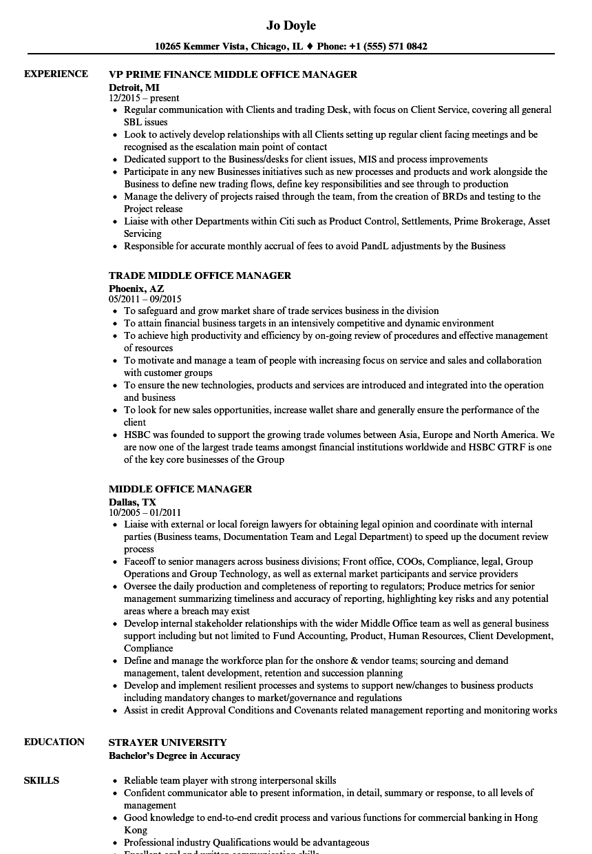 Download Middle Office Manager Resume Sample As Image File  Office Manager Resume Samples