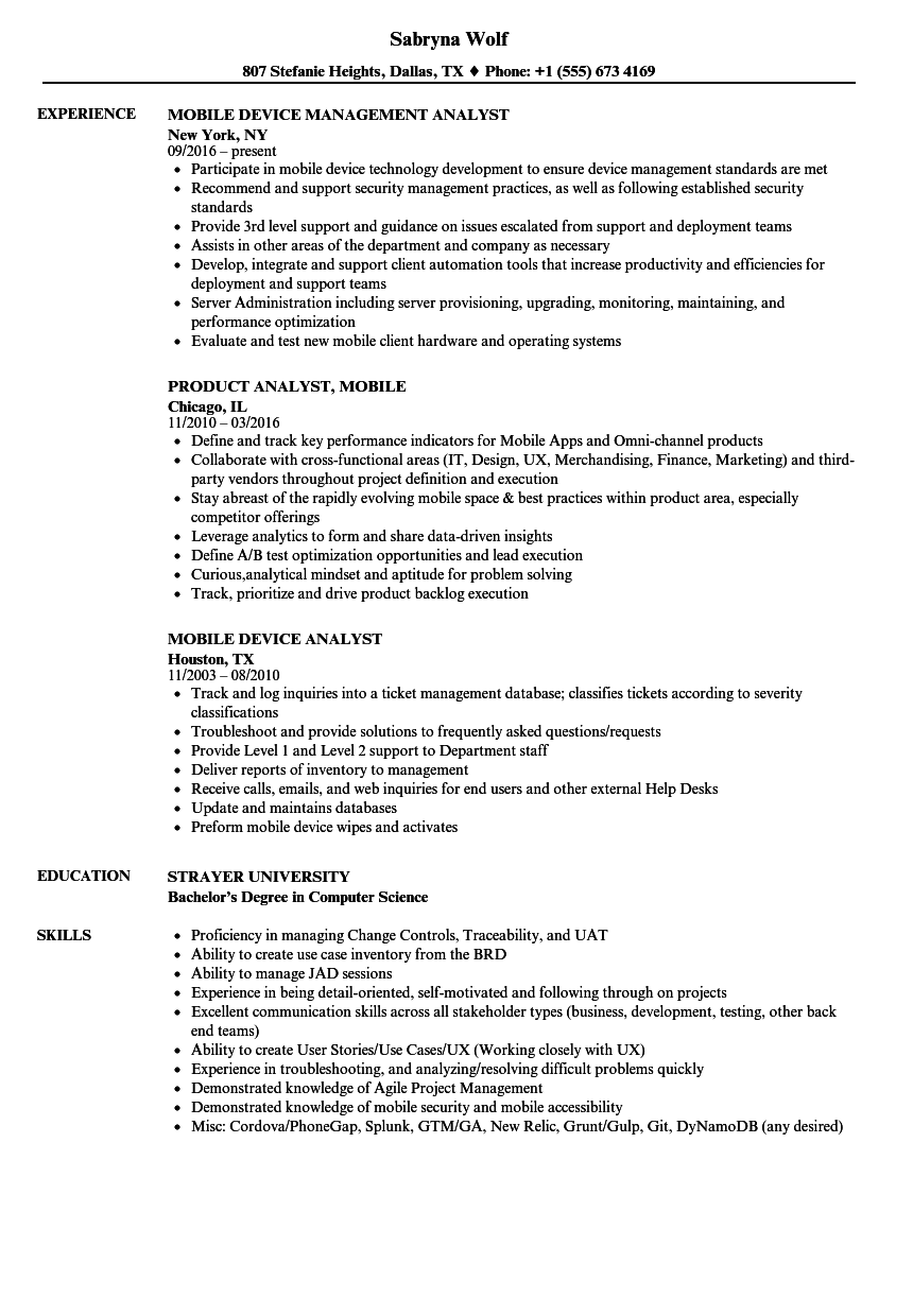 download mobile analyst resume sample as image file
