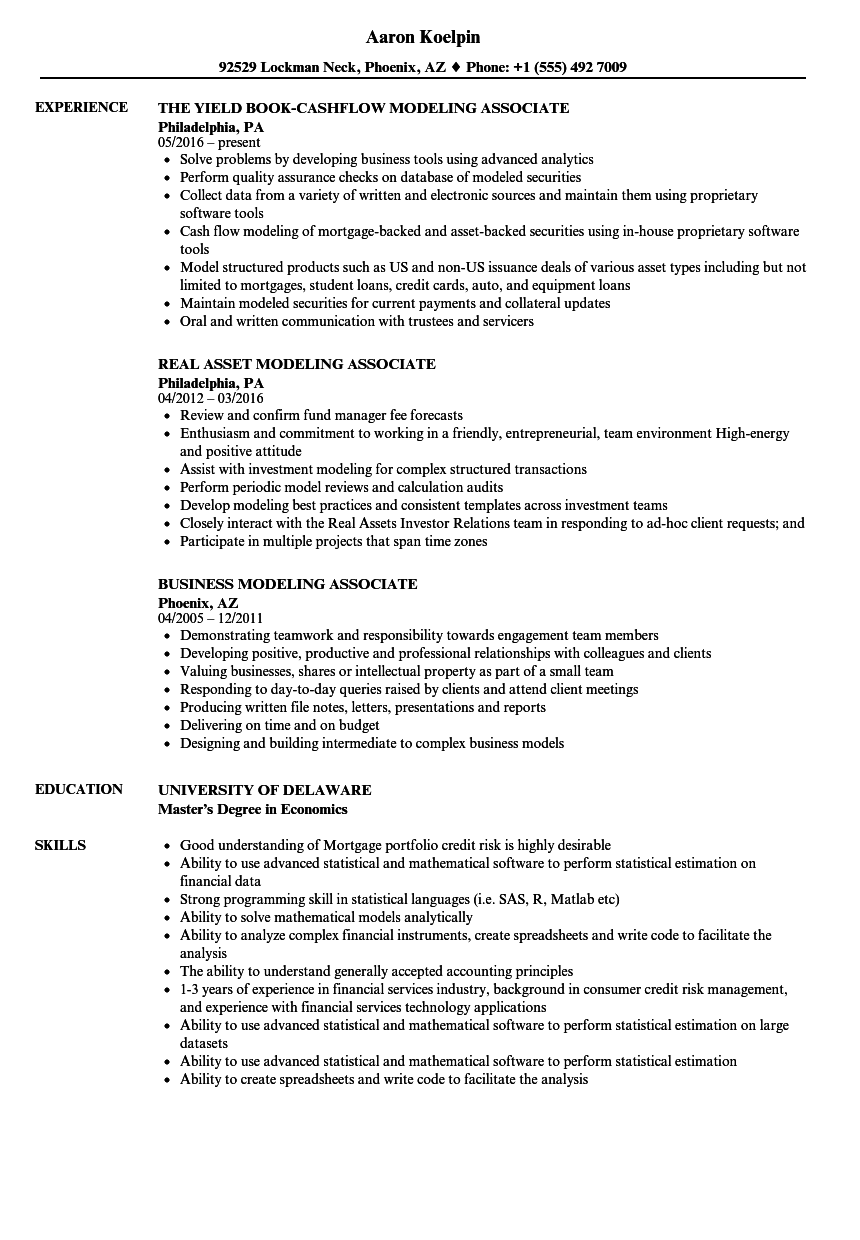 download modeling associate resume sample as image file - Resumen Samples