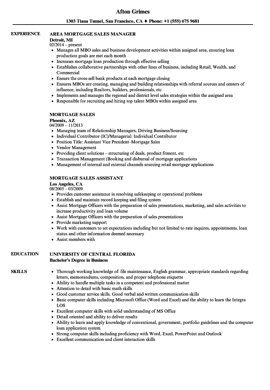 Download Mortgage Sales Resume Sample As Image File  Vice President Of Sales Resume
