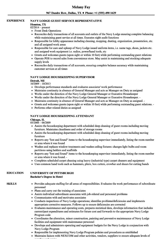 Navy Lodge Resume Samples Velvet Jobs