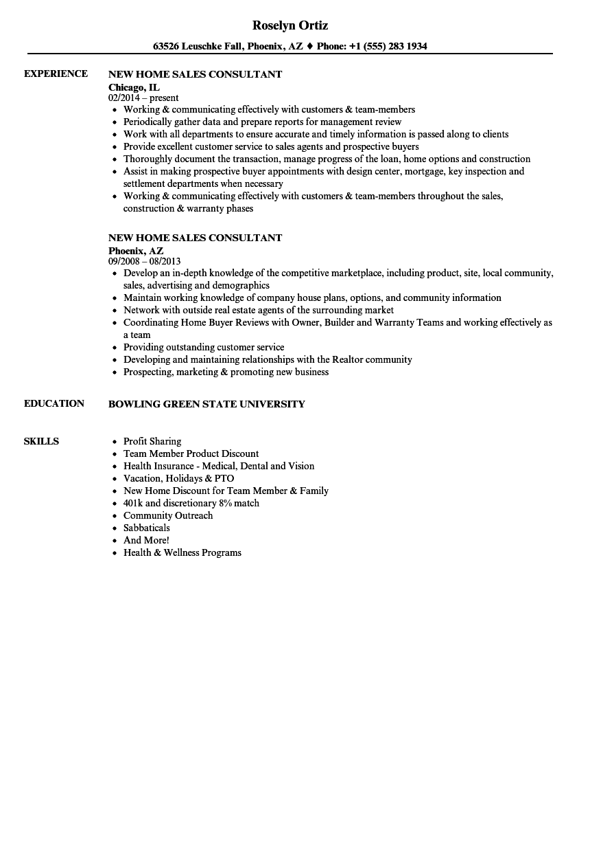 Download New Home Sales Consultant Resume Sample As Image File  Sales Consultant Resume