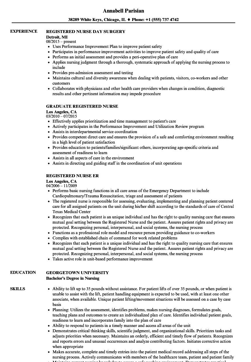 Download Nurse, Registered Nurse Resume Sample As Image File  Nursing Resume Example