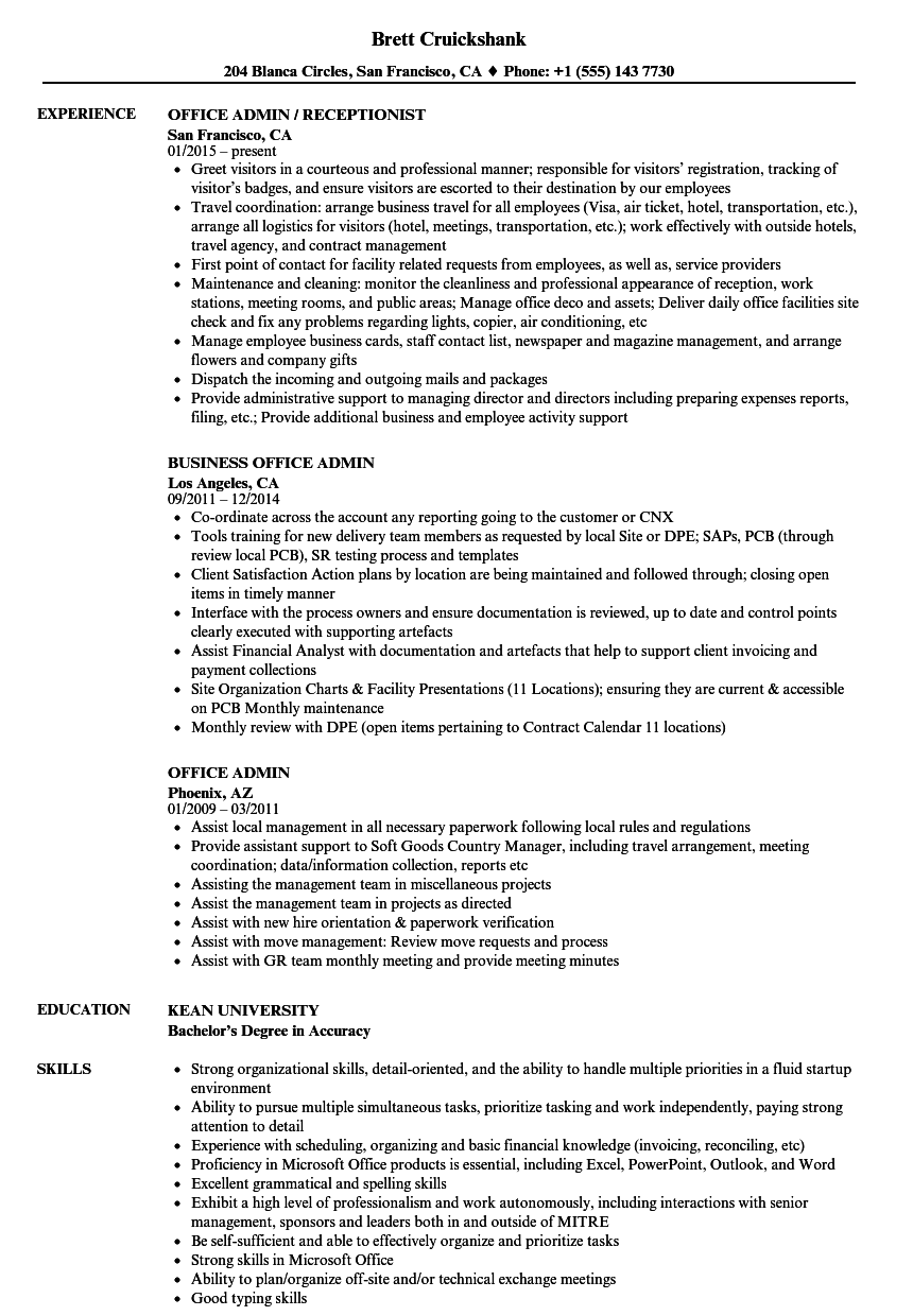 Download Office Admin Resume Sample As Image File  Office Admin Resume
