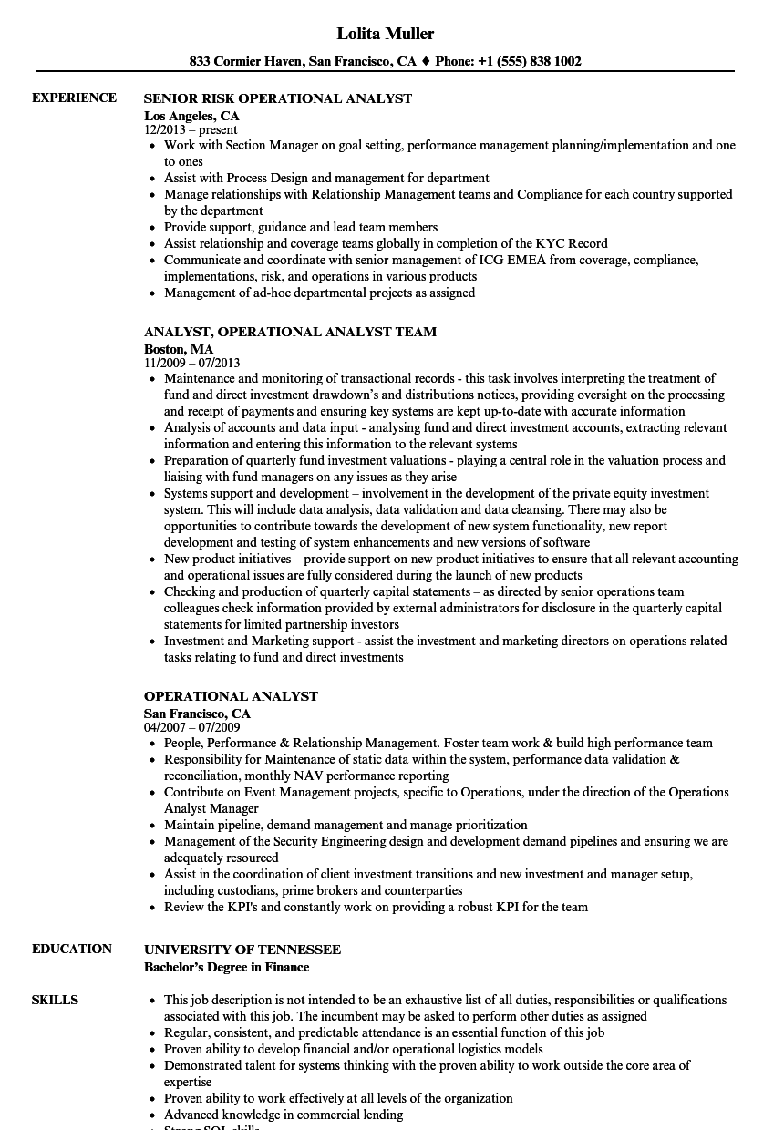 Cool Financial Operations Analyst Resume Sample Pictures Inspiration