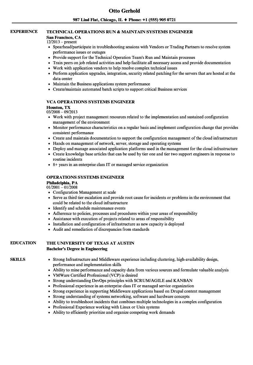 systems engineer resume samples Oylekalakaarico