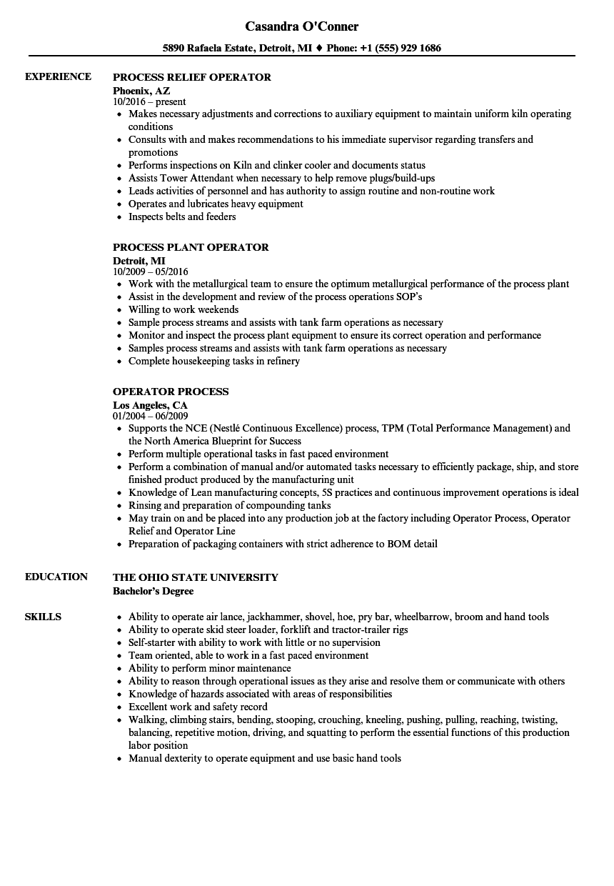resume Tower Climber Resumes operator process resume samples velvet jobs download sample as image file
