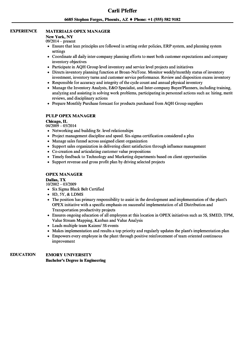 Opex manager resume samples velvet jobs download opex manager resume sample as image file yelopaper Image collections