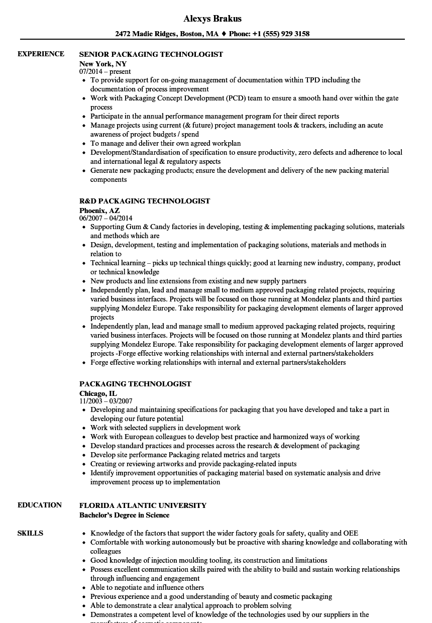 food technologist jobs chicago food technologist resume format