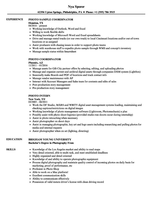 download photo resume sample as image file