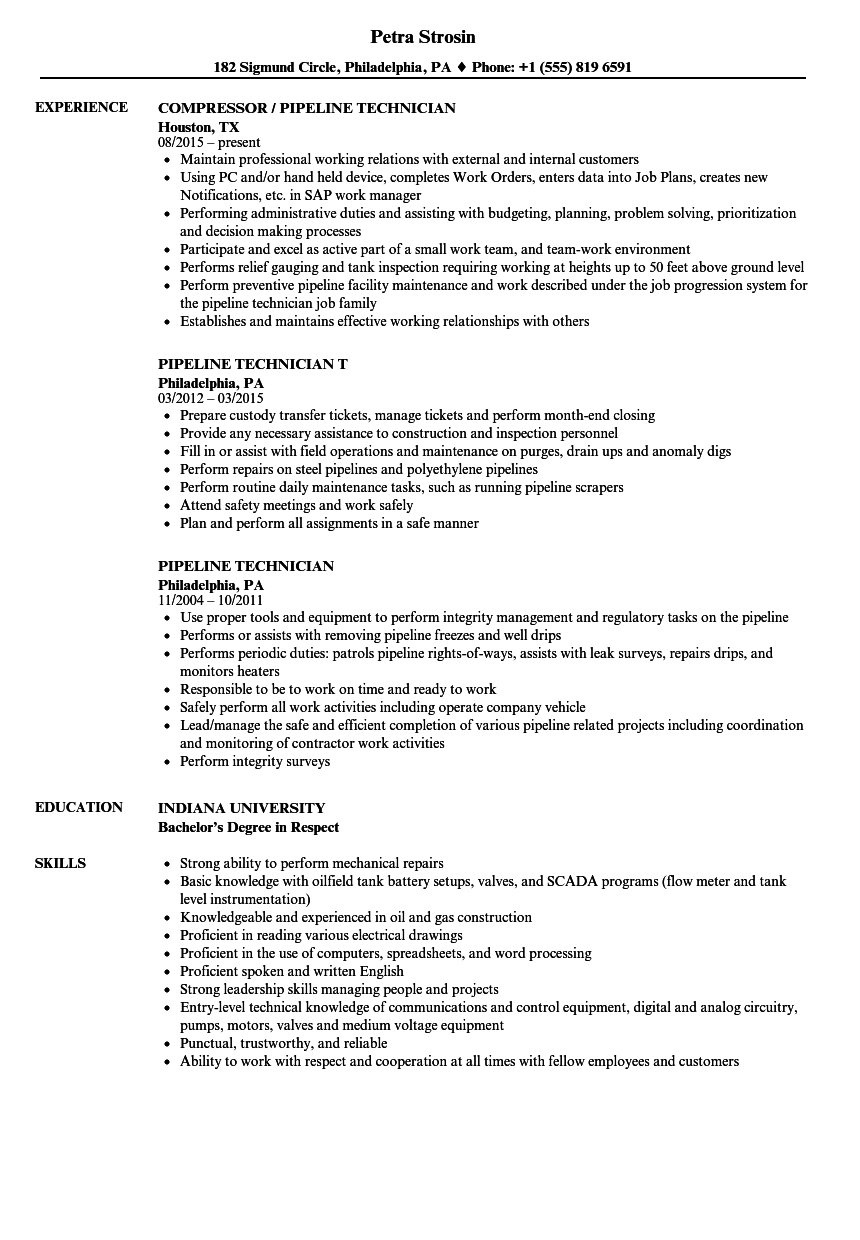 slot technician resume