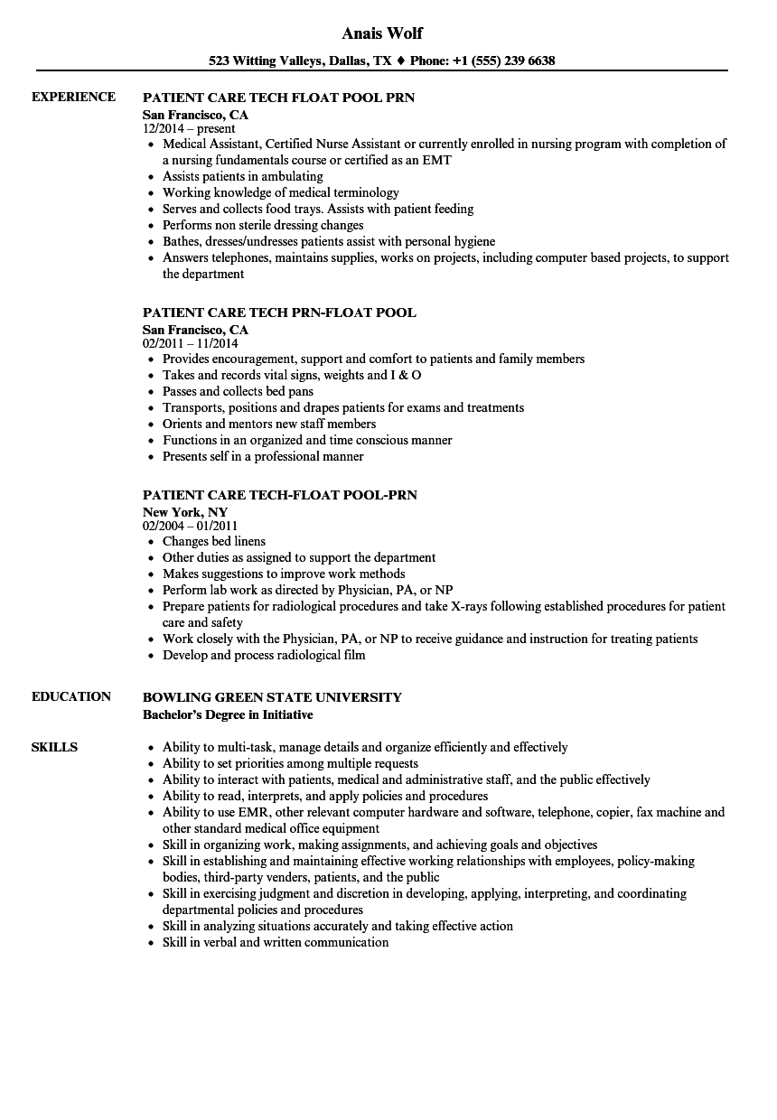 Pool Tech Resume Samples Velvet Jobs