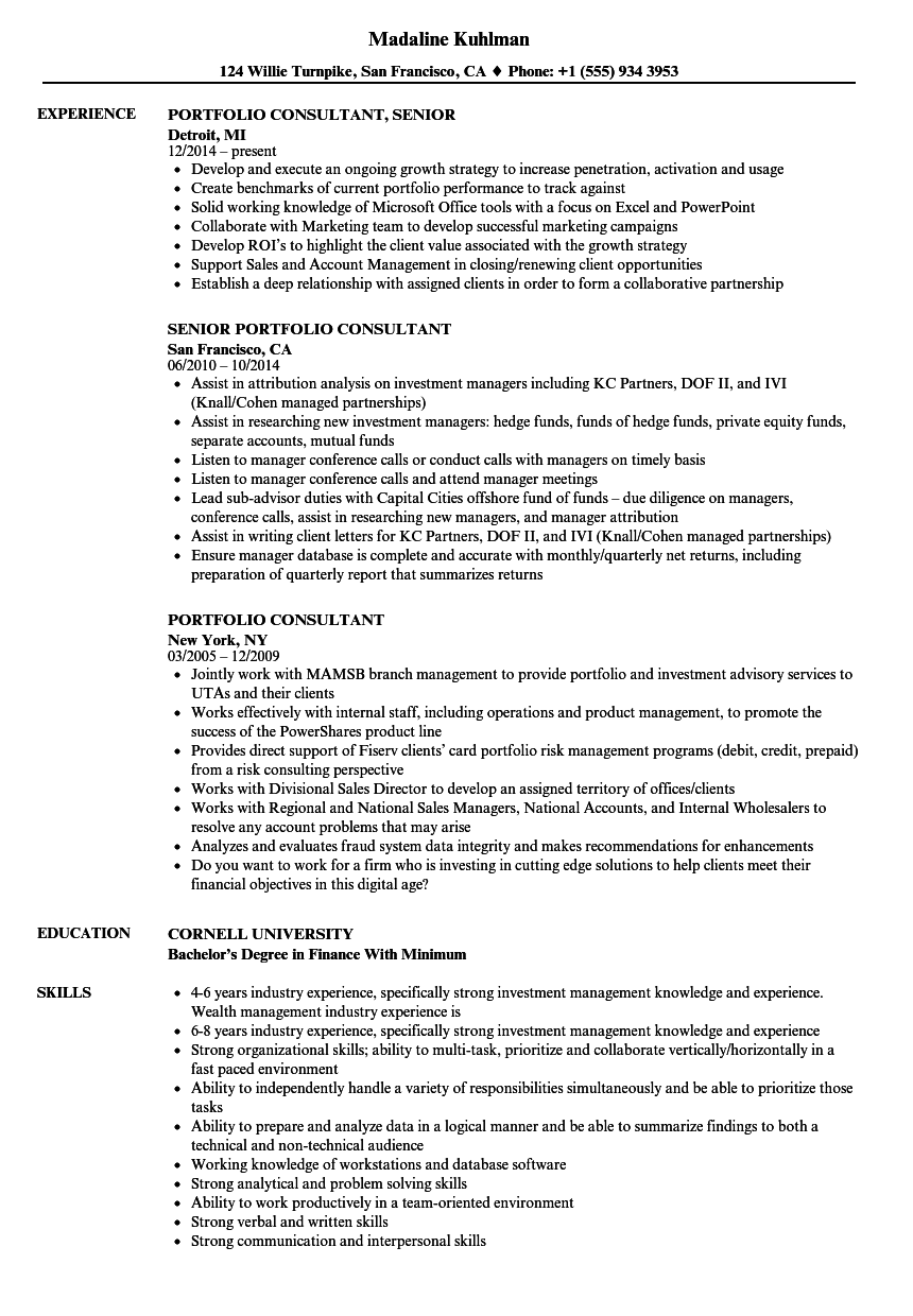 resume Td Resume portfolio consultant resume samples velvet jobs download sample as image file