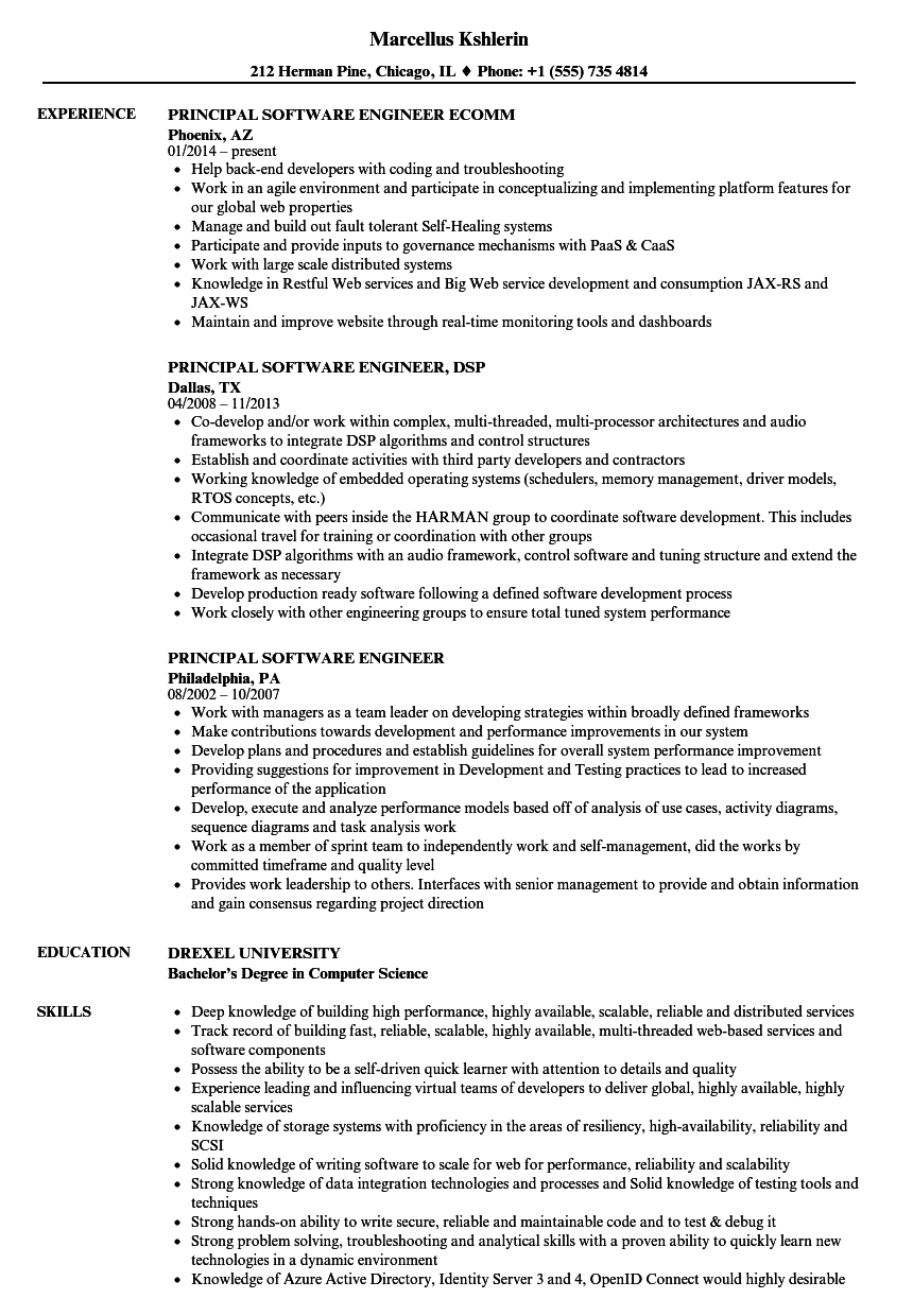 download principal software engineer resume sample as image file