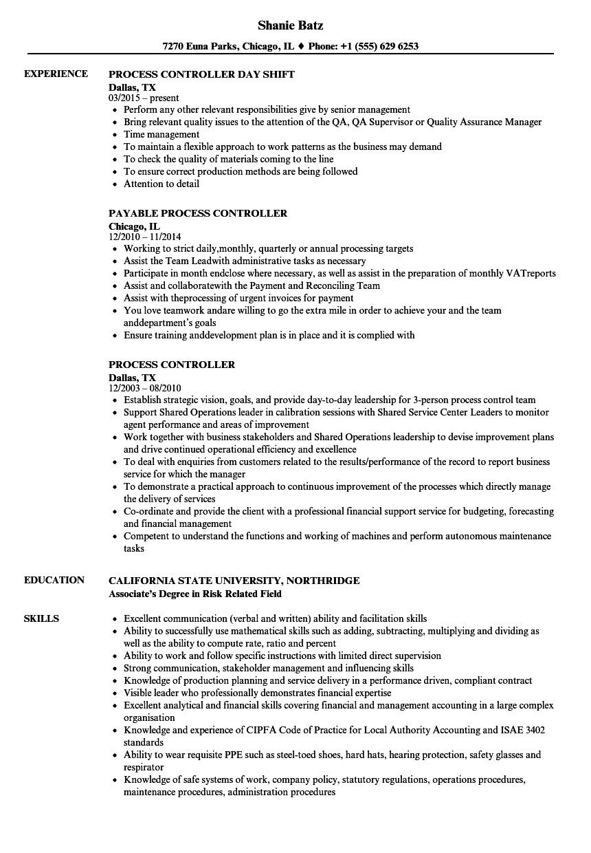 resume financial controller job financial controller resume