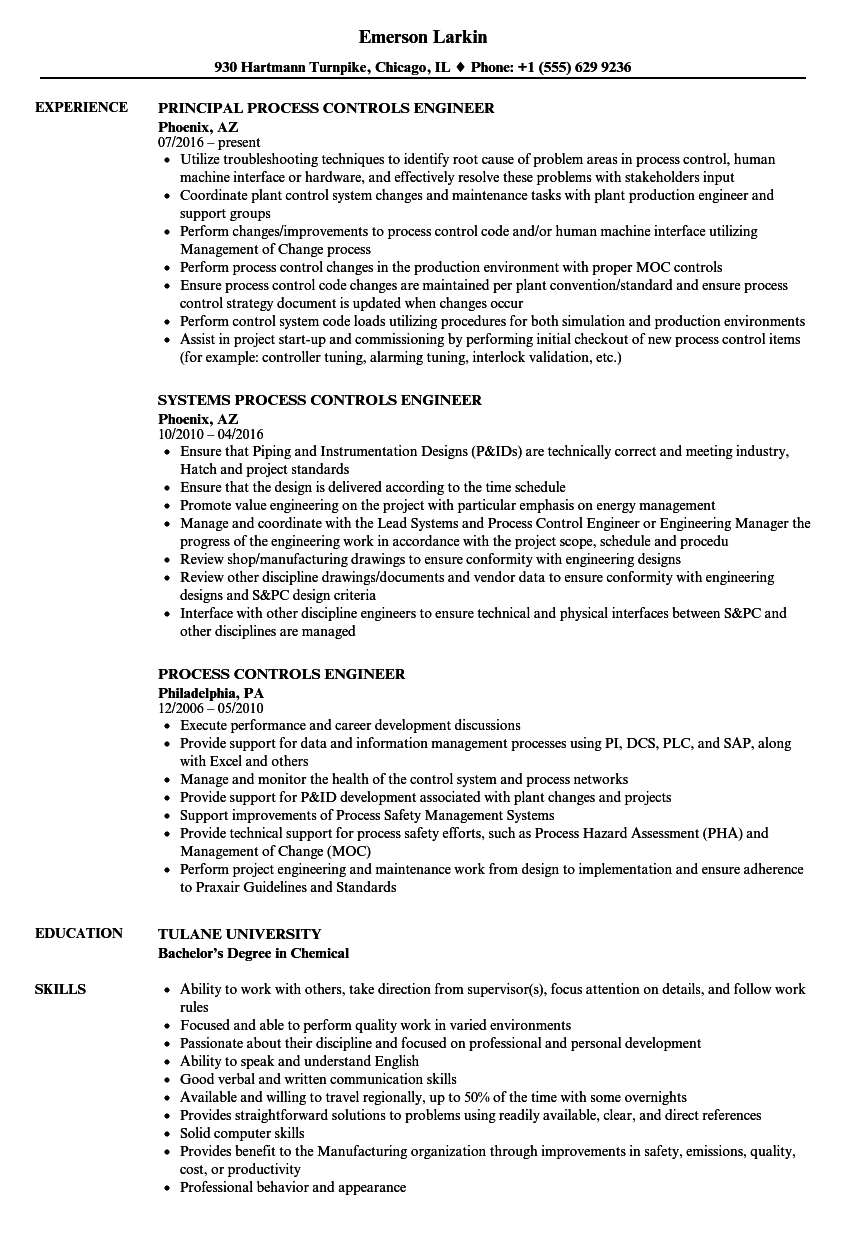 Exceptional Download Process / Controls Engineer Resume Sample As Image File Intended For Controls Engineer Resume