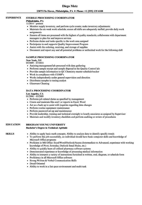 Processing coordinator resume samples velvet jobs download processing coordinator resume sample as image file 1betcityfo Images