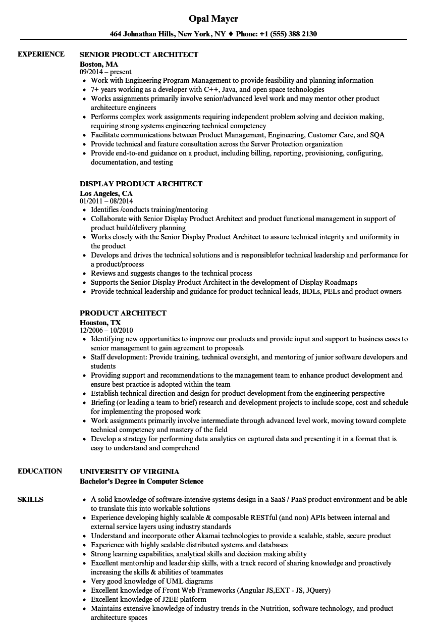 download product architect resume sample as image file - Product Architect Sample Resume