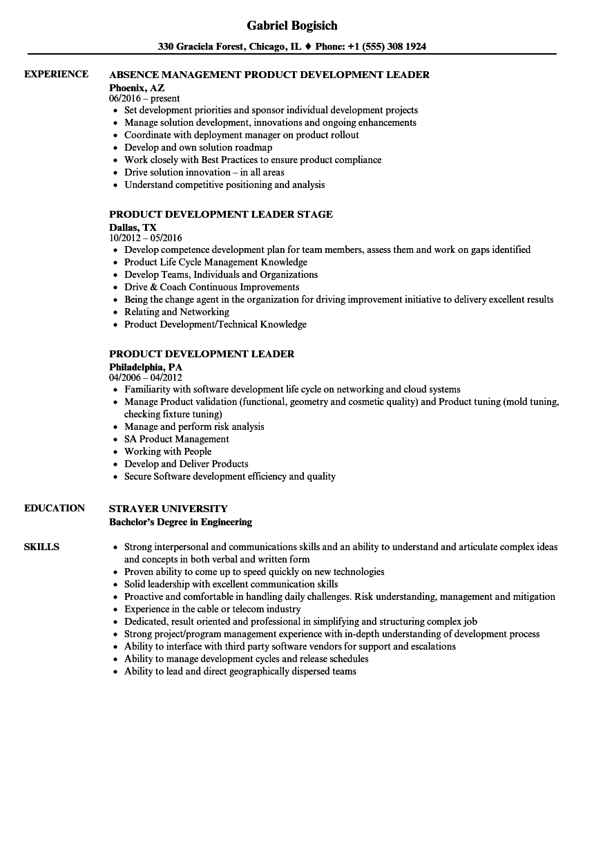 new product development resume sample - product development leader resume samples velvet jobs