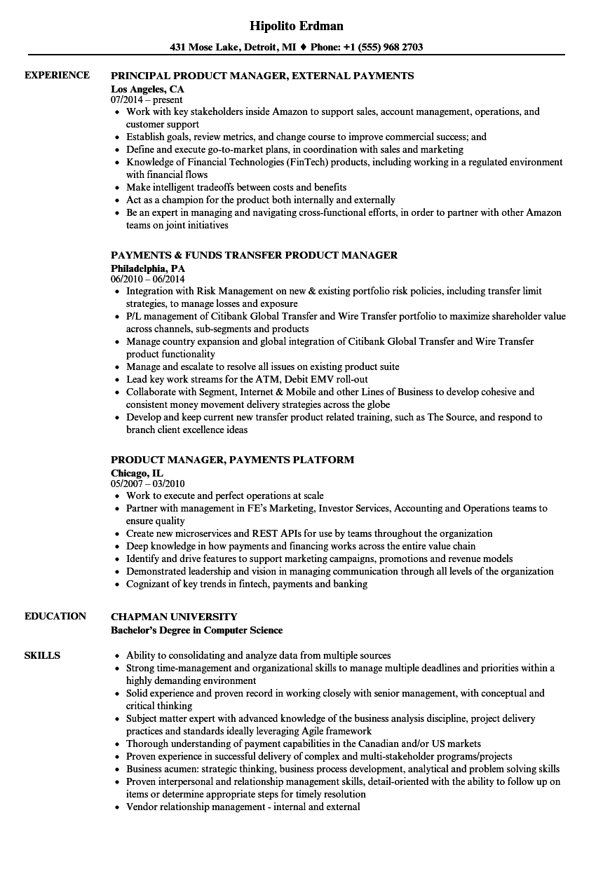 product manager sample resume application development manager sample resume free download 100 resume examples management product - Sample Cover Letter Product Manager
