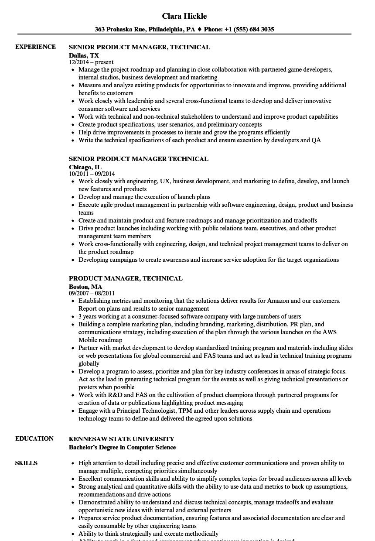 product manager technical resume sles velvet